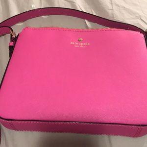 Bright pink Kate Spade crossbody purse